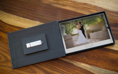 A5 sized USB box with photograph