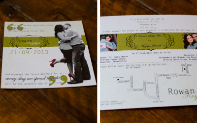 Square wedding invite