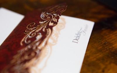 Modern sophisticated wedding invitation